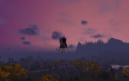 Ardwulf Flying Against the Sunset