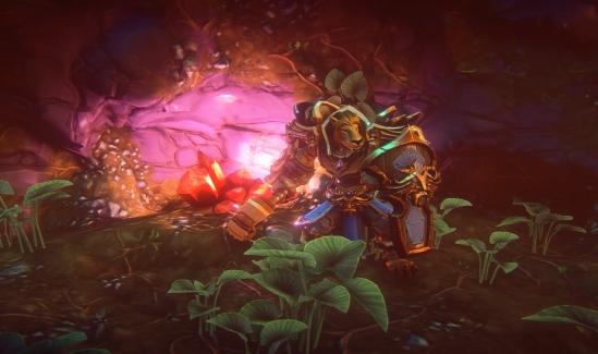 Kerra warrior in a subterranean crystal cave-noscale