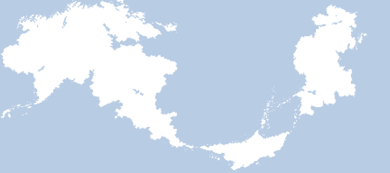 The current version of the world map, with the grid hidden.